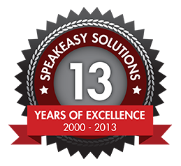 Speakeasy Solutions 13th Anniversary 2000 - 2013