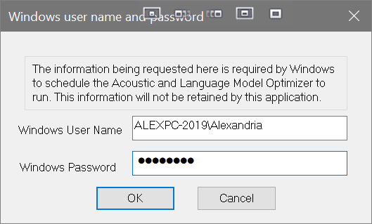 Dragon accuracy tuning scheduler windows user name and password