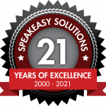 Speakeasy Solutions 21 Year Badge