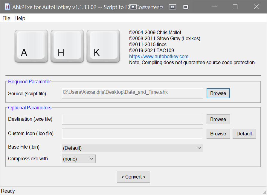 Inserting date time with Dragon Medical One - Converter for AHK to EXE