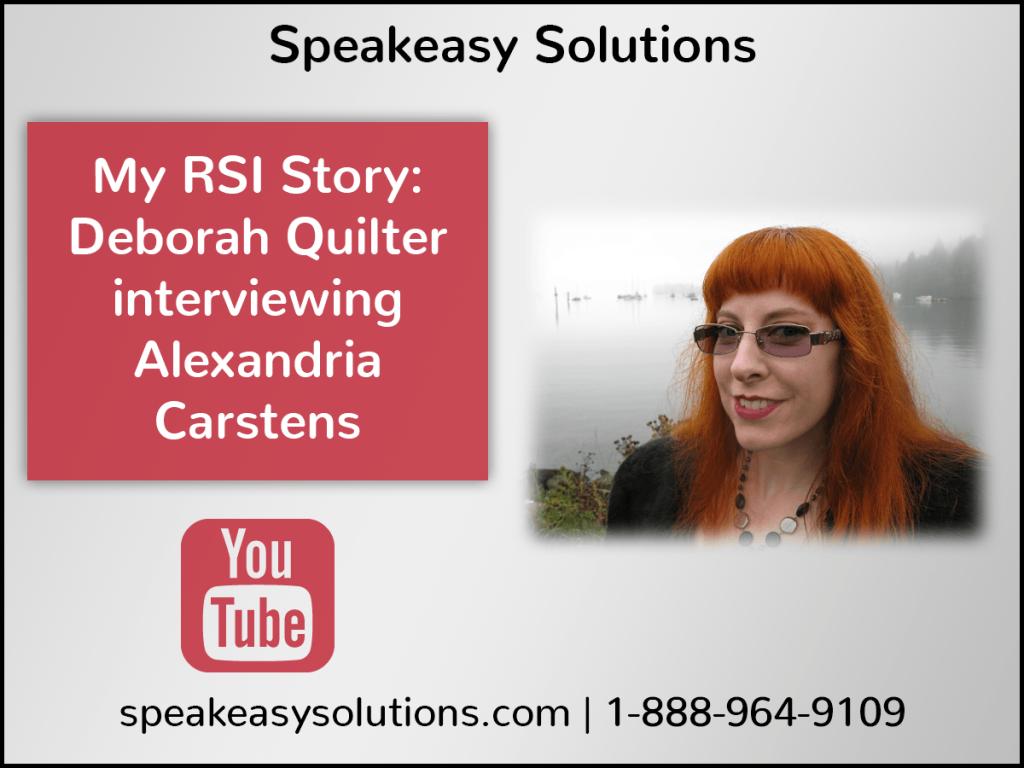 My RSI Story - Alexandria Carstens