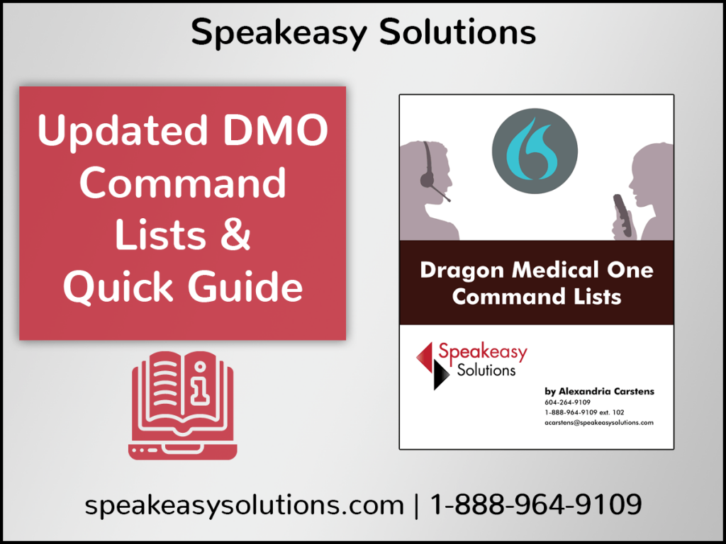 Dragon Medical One Command List & Quick Guide
